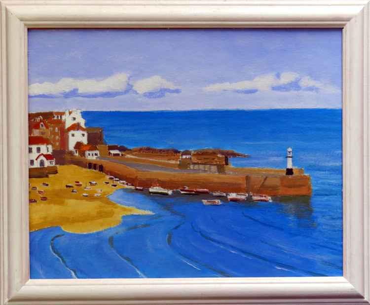 Smeaton's Pier, St Ives. -