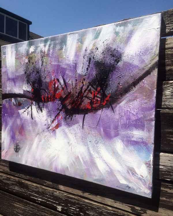 Purple Day , Acrylic Abstract 60x80 cm