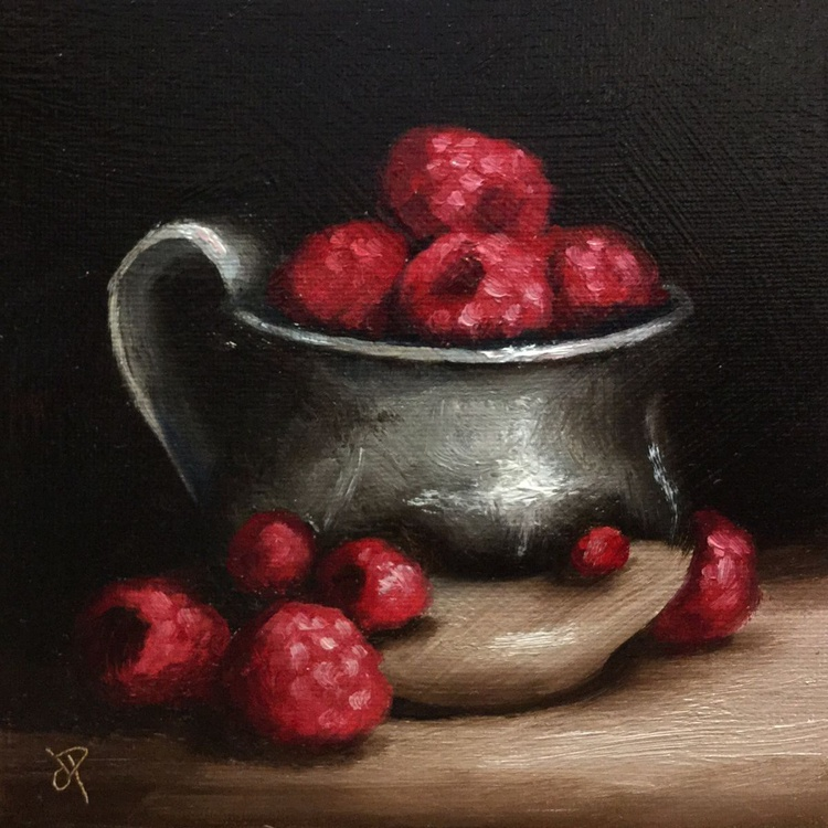 Raspberries in silver cup 2 - Image 0
