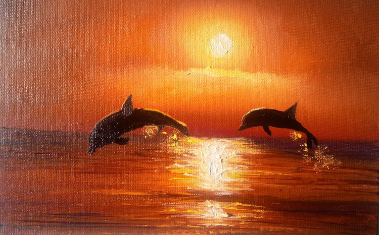 Dolphins. Miniature - Image 0