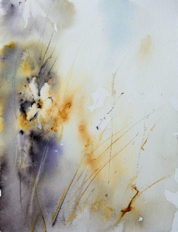 """meadow breath"", original watercolour painting, 24x32cm - Image 0"