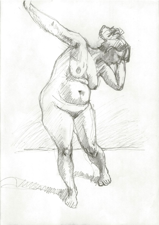 Nude woman standing pose - Image 0