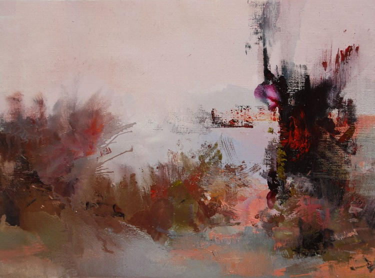 """Abstract Landcape Painting, """" Evening """" - Image 0"""