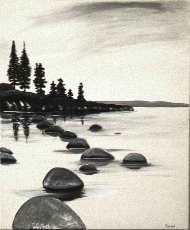 Rocky lake -