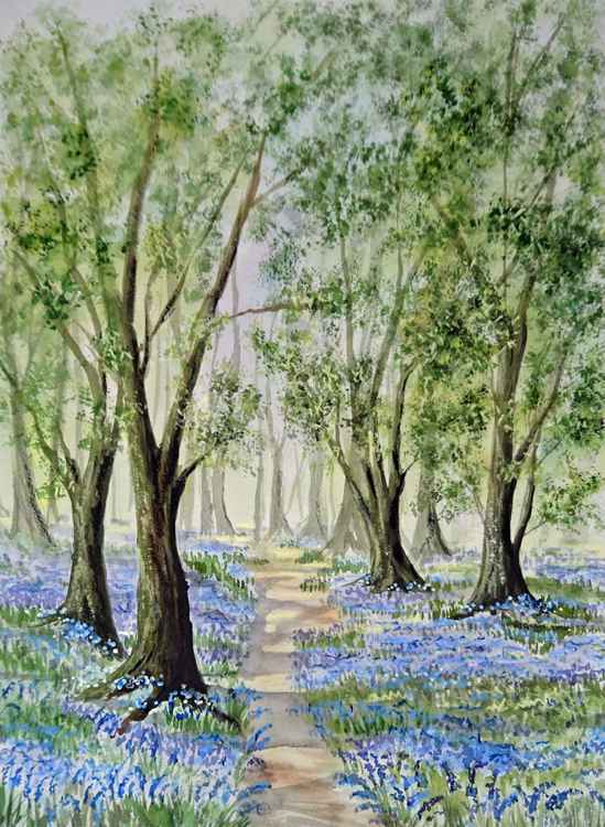 "Bluebell woods 16"" x 20"" mounted -"