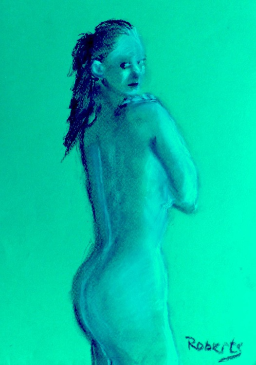 Standing nude with pony tail 2 - Image 0