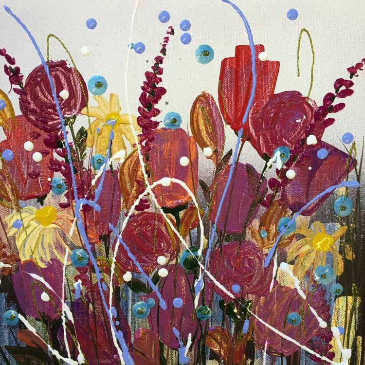 Rainbow summer flowers - Image 0