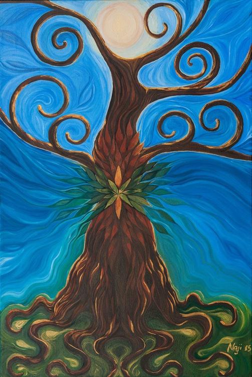 Surreal tree, with leaves, roots and branches - Nova - Albero surreale, con foglie radici e rami - Image 0