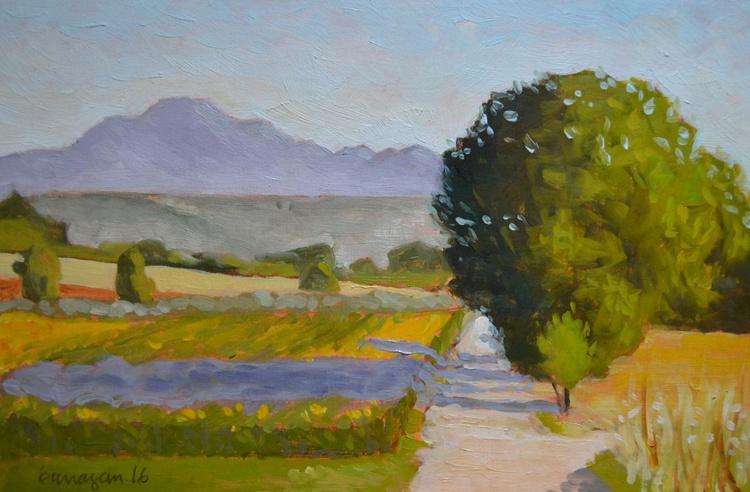 The Road below the Circolo in Porchiano del Monte Umbria Plein Air Italian Landscape Painting - Image 0