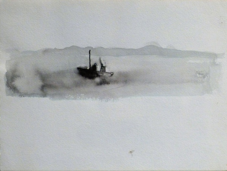 Two In The Boat, 23x17 cm - Image 0