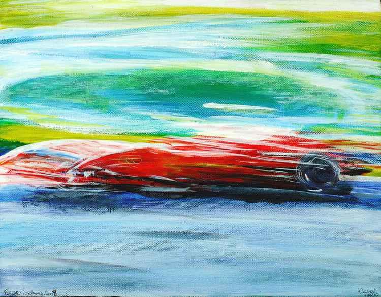 First Corner Ferrari