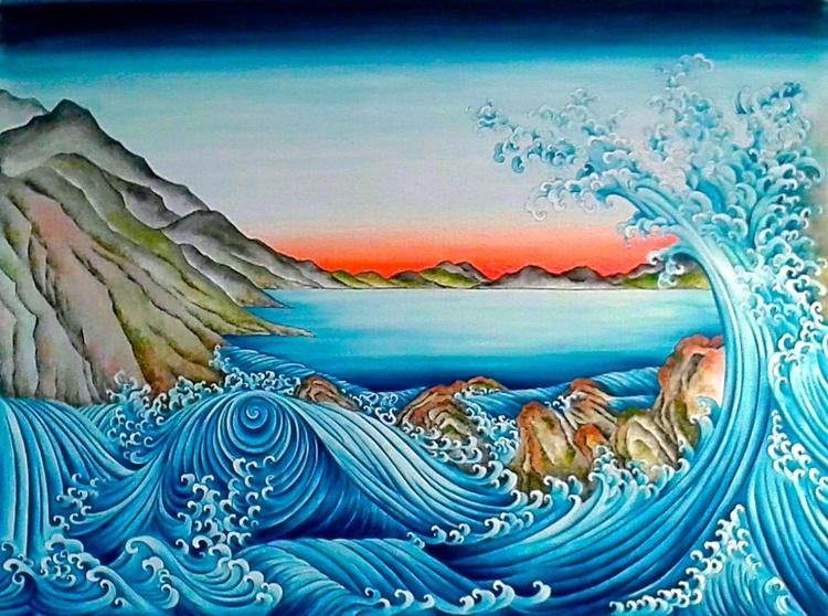 Whirlpool and Crashing Waves - Image 0