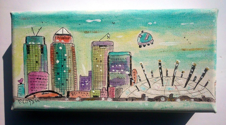 Graphic Canary Wharf and O2 - Image 0