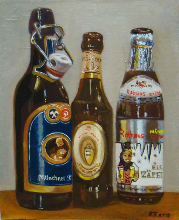 The german beer bottles -
