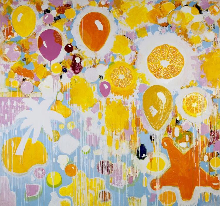 "Original abstract ""Sunny Day ""original painting - Image 0"