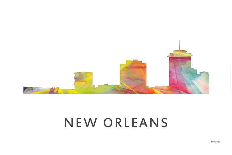 New Orleans Louisiana Skyline WB1 -