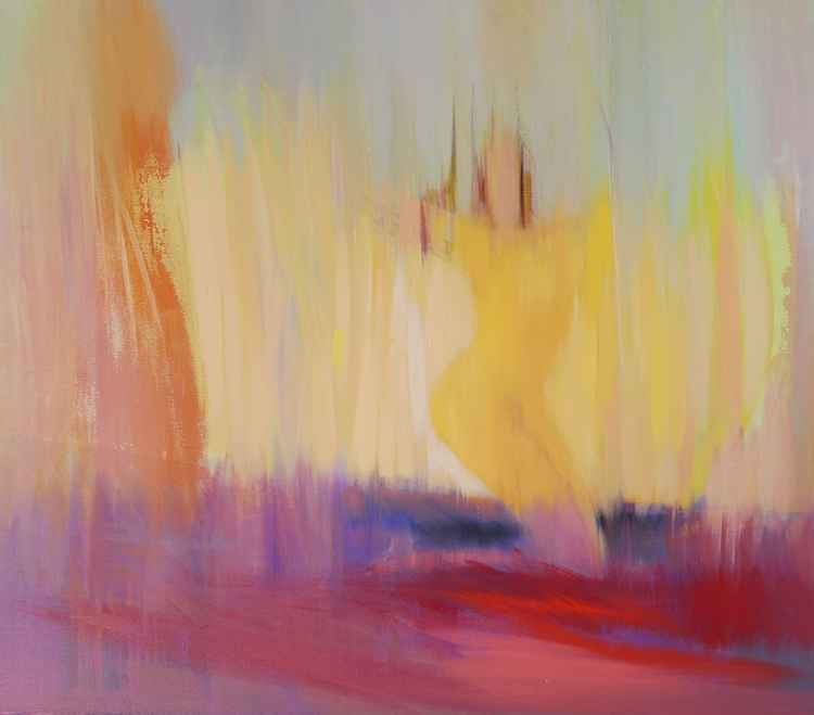 "Abstract painting, "" Angelic "" -"