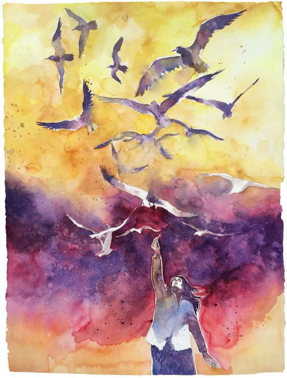 The woman of seagulls - Image 0