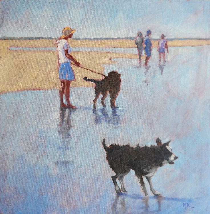 Two Dogs on the Beach - Image 0