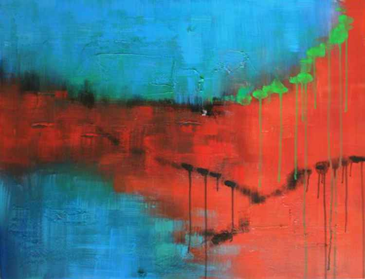 Artworks Collections Bulk edit product images FULLY EMPTY PART III - ABSTRACT ACRYLIC ART PAINTING - 20X35 INCH, 2016 -