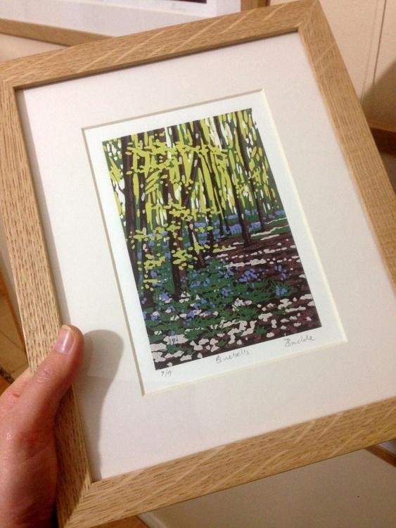Bluebells, framed - Image 0