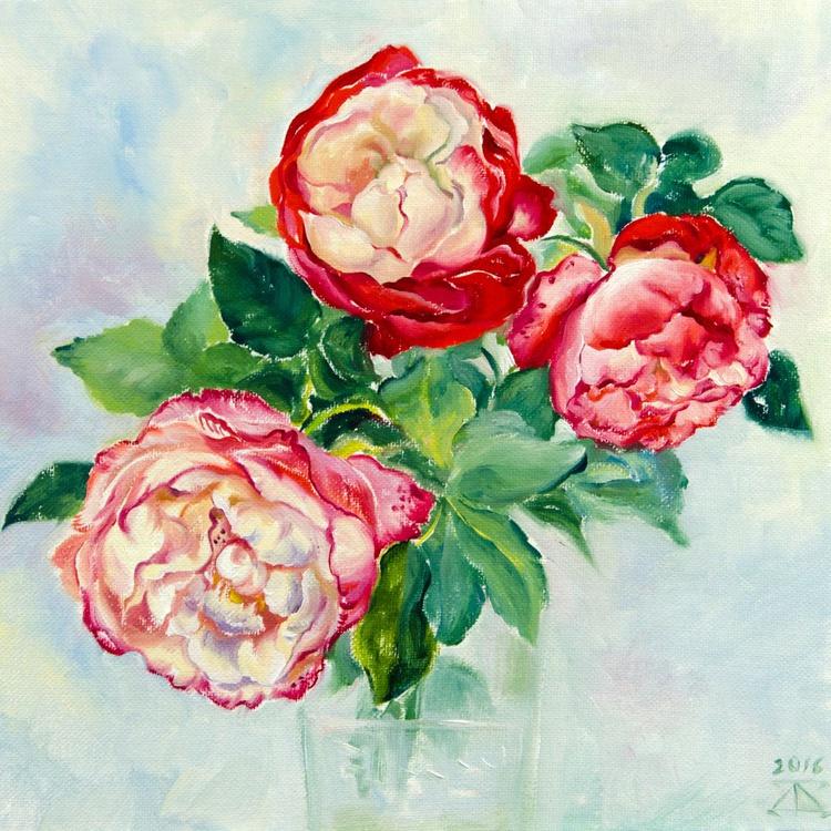 Red-white roses - Image 0