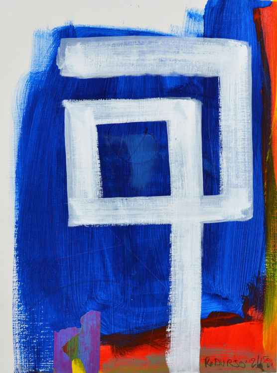 Untitled Blue / White (2) -