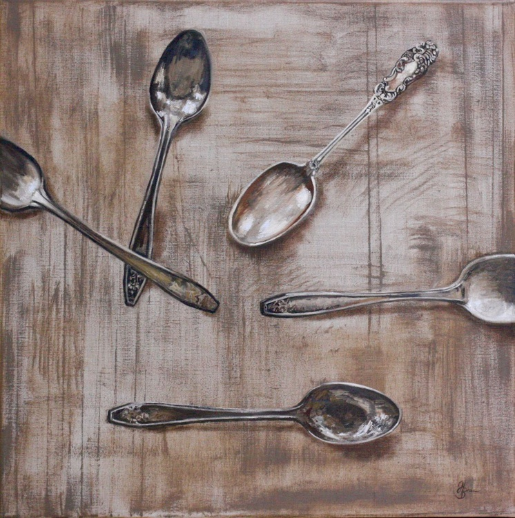The lost teaspoons - Image 0