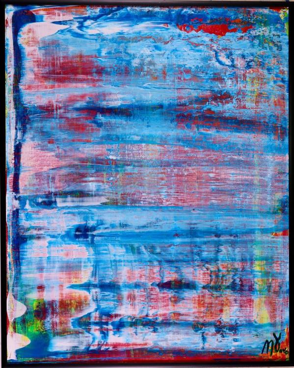 Translucent Blue Landscape - Framed + Signed + COA!! - Image 0