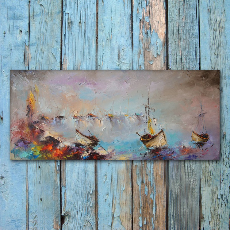 Seaside - 6, Oil Painting, ree shipping - Image 0