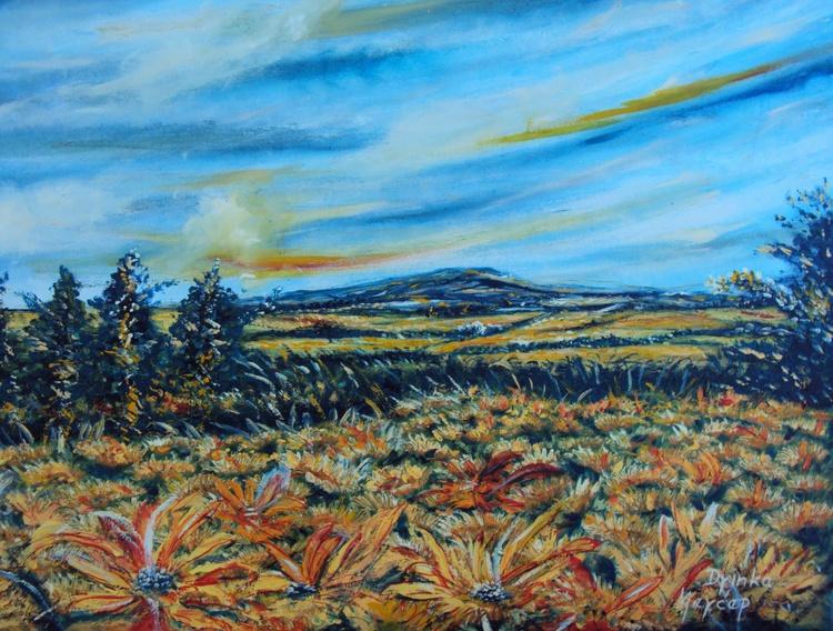 Field of Sunflowers Original Oil Painting Impresionism - Image 0