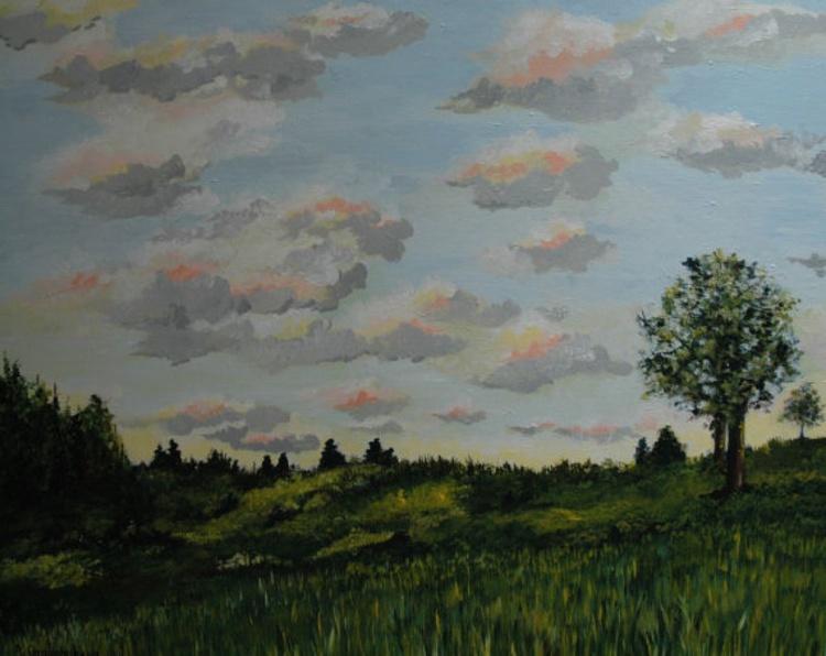 Afternoon Sky Medium Size Painting - Image 0
