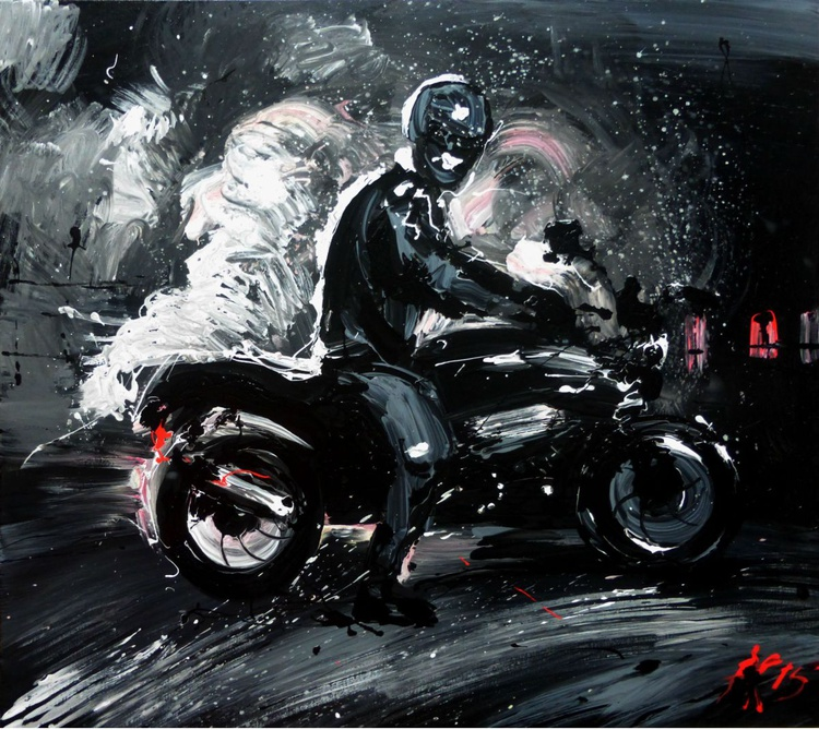 you want a ride? 90x 80 cm, original painting - Image 0
