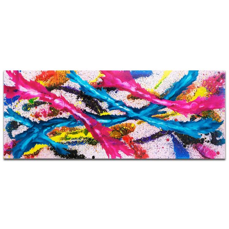 Mendo Vasilevski 'Color Splash' Contemporary Acrylic Wall Art Giclee - Image 0