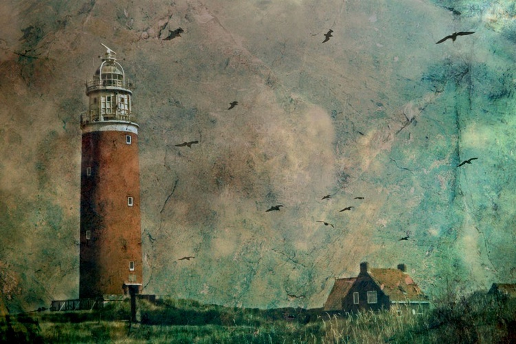 The Lighthouse of Texel - Canvas 75 x 50 cm - Image 0