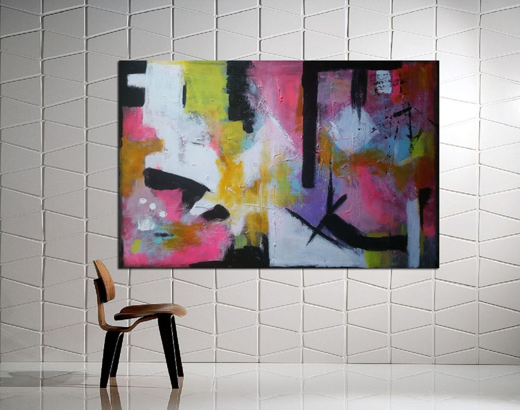 47,2x 31,''(120x79cm)  Abstract landscape. The Greatest 2, hotel wall art, house design - Image 0
