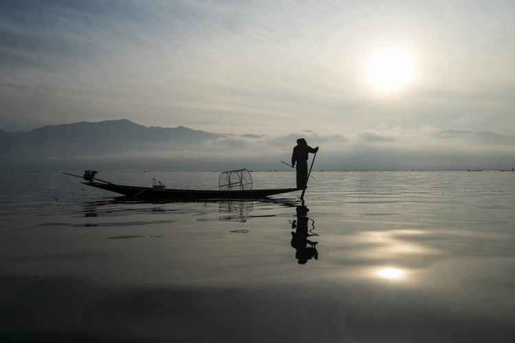 Fisherman. Inle Lake , Myanmar