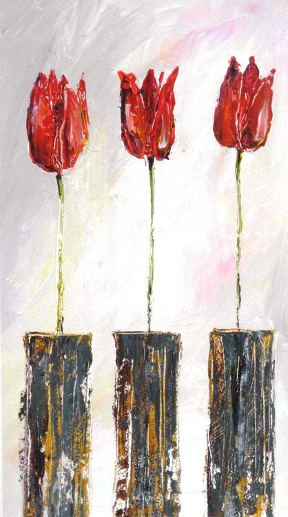 Three Red Tulips - Image 0
