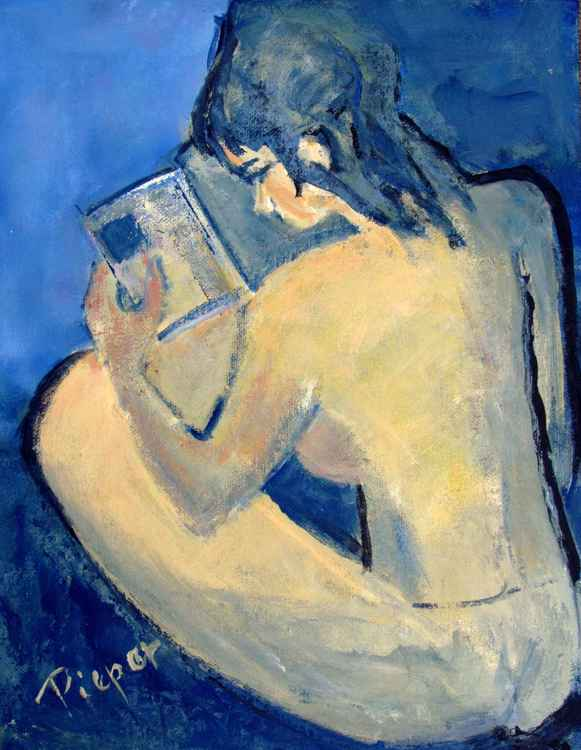 Nude with Nose in Book -