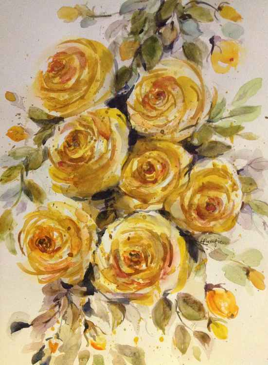 Yellow Rose Bough