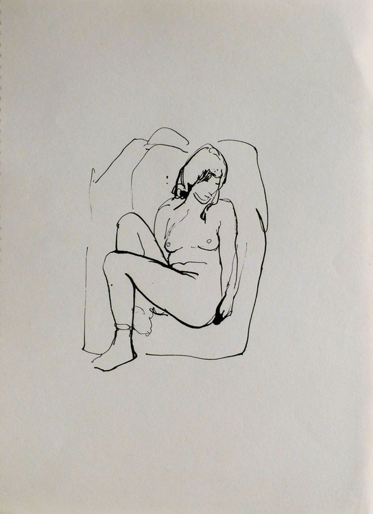 Seated Nude 6, 22x30 cm - Image 0