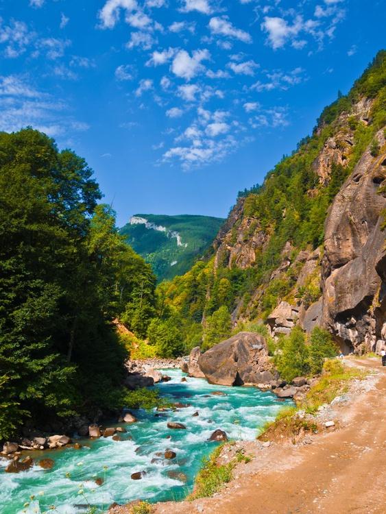 River in the Caucasus. - Image 0
