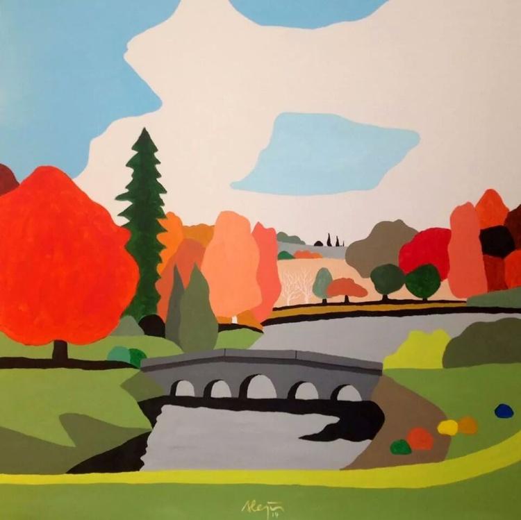 Landscape with bridge - Image 0