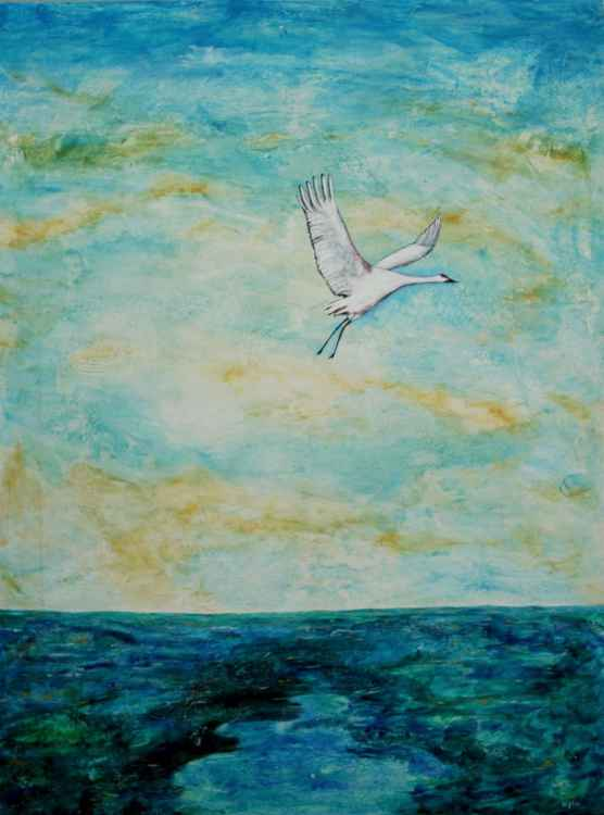 Flight over the sea (large - 36 x 48)