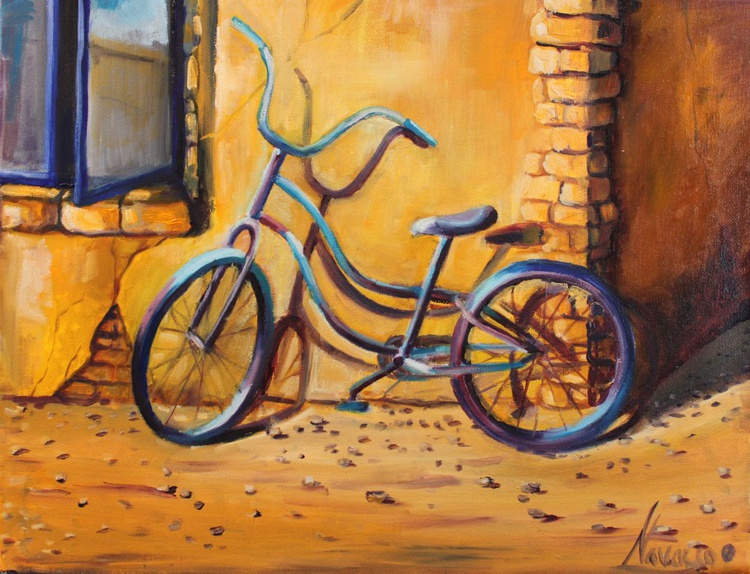 "Original oil painting of a bicycle ""Bike"" - Image 0"