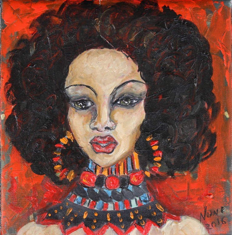 Young Afro woman's portrait - Image 0