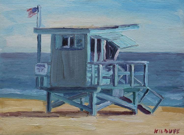 Lifeguard Tower #5- Zuma Beach 9 x 12 - Image 0