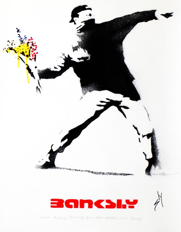 Other People's paintings only much cheaper: No. 5 Banksy (On Paper) - Image 0