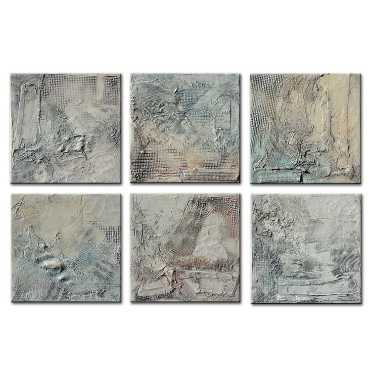Large Abstract Textured Sculpted Panels,Original Painting by Andrada ,Heavy Textured,Mixed media painting - Image 0