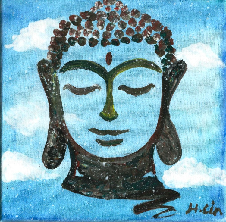 BLUE SKY SMILEY BUDDHA - Image 0